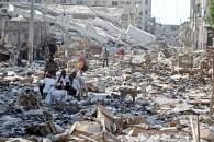 escena de la destrucción tras el terremoto en el barrio de Puerto Príncipe de Bel Air Center - Haití - 15/01/2010 - FOTO Jonne Roriz / AE
