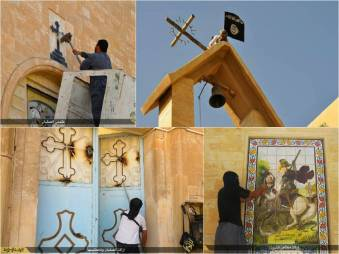 Islam violent destruction of churches in Mosul