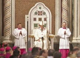 Papst auf dem Thron