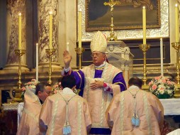 Guido Pozzo Mass in the ancient rite in Trieste in the Madonna of the Rosary parish