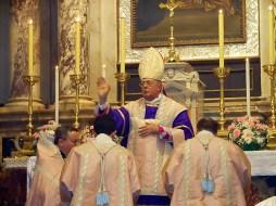 Guido Pozzo messa in rito antico a trieste nella parrocchia della Madonna del Rosario