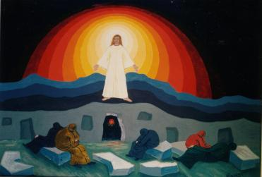 THE RESURRECTION - TEMPERA 1996 - CM.50 X 35
