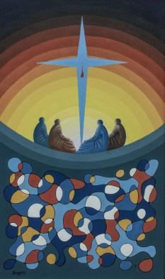 The cross in Manhattan - 2001 oil on canvas - cm. 60 x 100 Edited Cam Mondadori n. 51