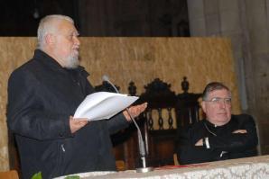 Enzo Bianchi dans la cathédrale arezzo
