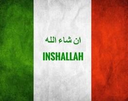Inshalla italienische Flagge