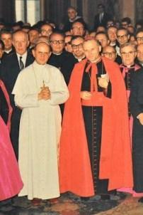 Paolo VI con il Carinale Woytila