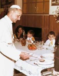 niños Pablo VI comedor ganadores del concurso de pesebres 30 Enero 1966