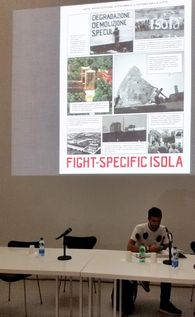 Fight-Specific Isola, book presentation with/con Antonio Brizioli, Hou Hanru, Evelyne Jouanno, Steve Piccolo, Bert Theis