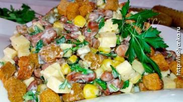 Шустрый салат — быстро готовится и еще быстрей съедается!