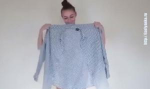 Девушка взяла рубашку любимого и за минуту превратила ее в...