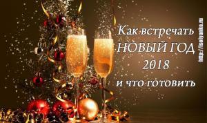 Как встречать Новый год 2018 и что готовить - полезные советы экспертов!