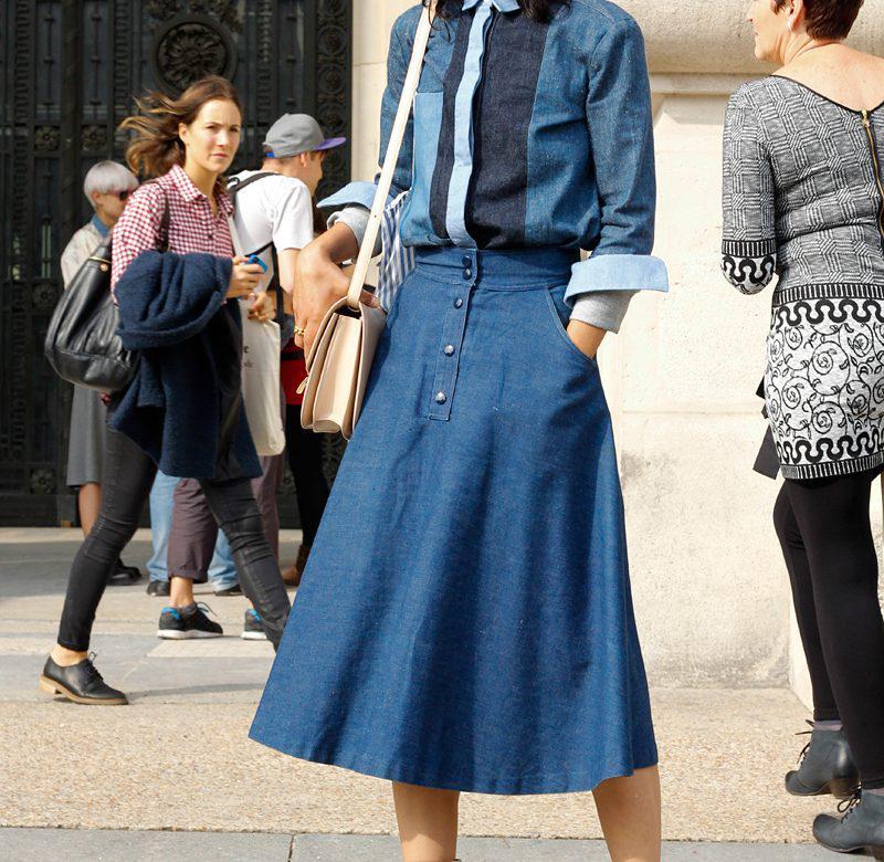 image17-7   27 стильных образов с юбками, которые заставят вас позабыть о брюках!