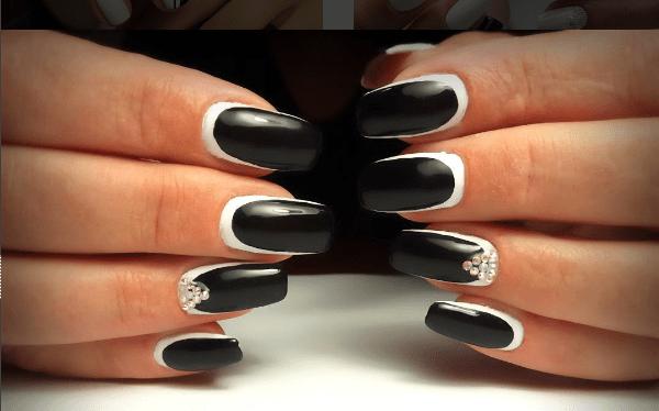 image28 | Черно-белая классика: идеи маникюра для элегантных девушек
