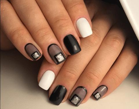image34 | Черно-белая классика: идеи маникюра для элегантных девушек