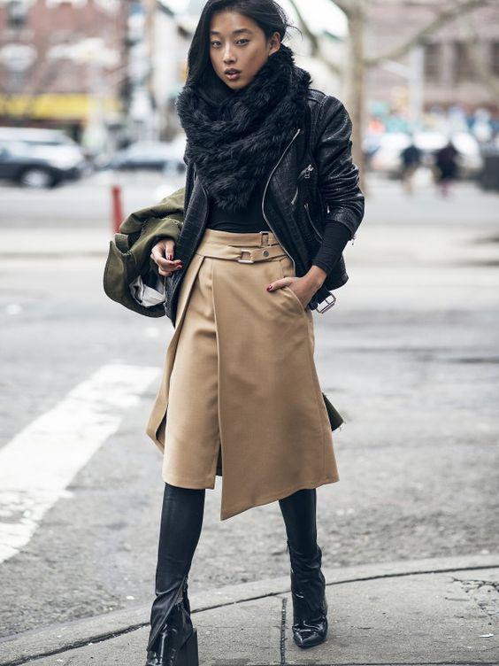 image8-41   27 стильных образов с юбками, которые заставят вас позабыть о брюках!