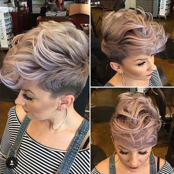 image14-34   Стильные укладки на короткие волосы 2018