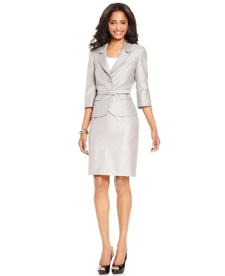 image14-41 | 20 стильных образов с юбкой и жакетом для деловых леди