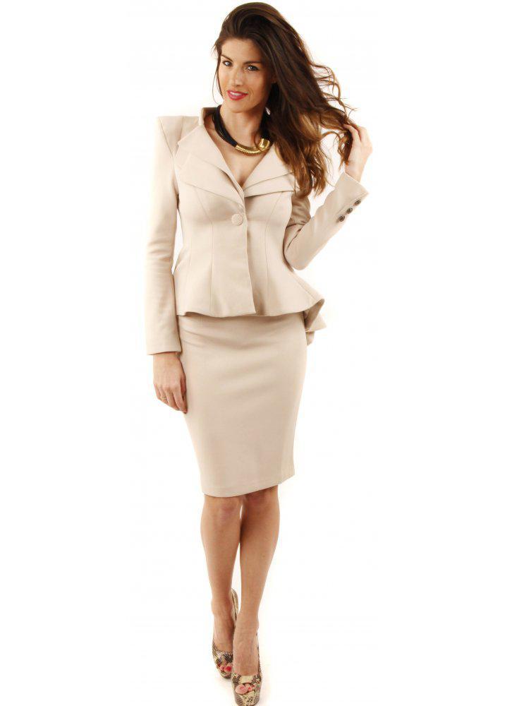 image17-28 | 20 стильных образов с юбкой и жакетом для деловых леди