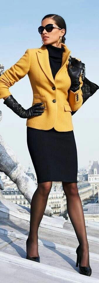 image5-79 | 20 стильных образов с юбкой и жакетом для деловых леди