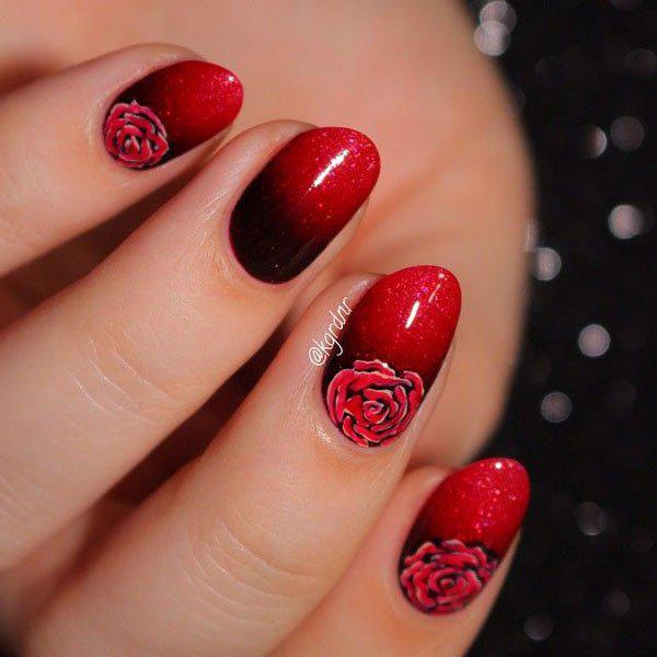 image6-65   Маникюр с розами: 20 очаровательных идей
