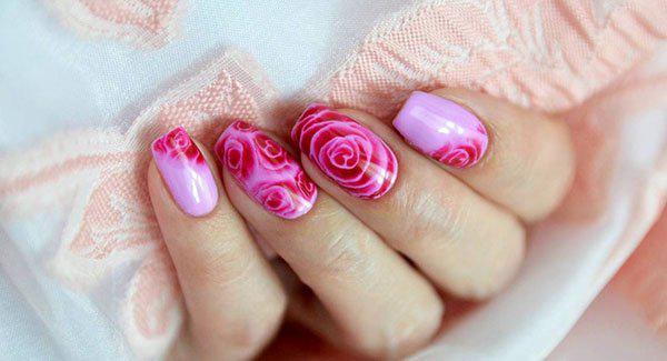 image8-55   Маникюр с розами: 20 очаровательных идей