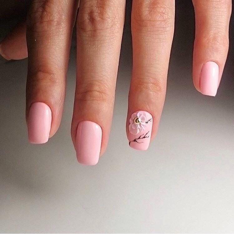 image1-136   Нежные идеи маникюра с дизайном в розовых оттенках