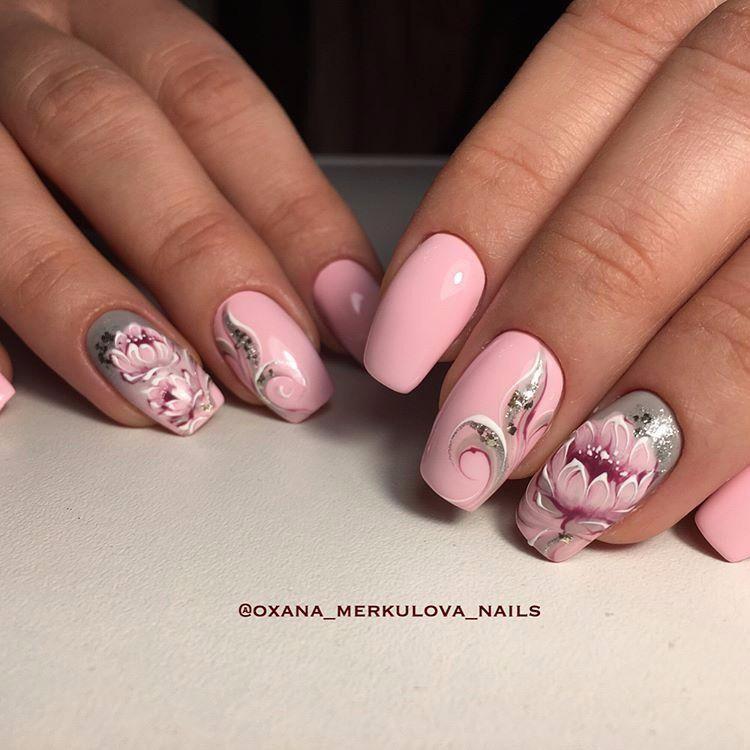 image12-45   Нежные идеи маникюра с дизайном в розовых оттенках