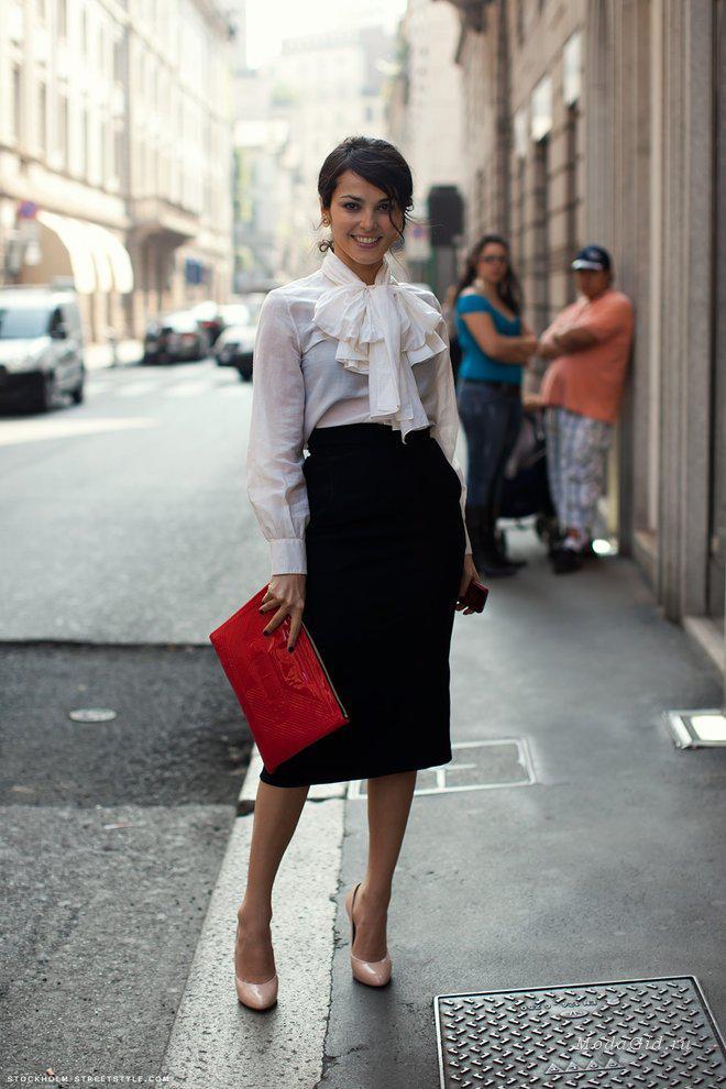 image2-93 | 10 стильных образов с черной юбкой