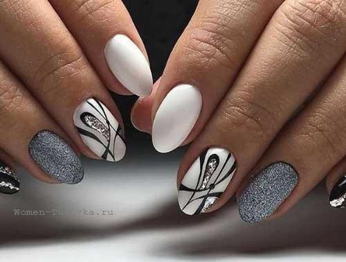 image22-20   50 оттенков серого в маникюре: стильные идеи модного элегантного маникюра!
