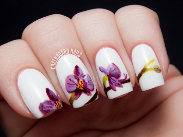 image28-3 | Потрясающие идеи цветочного маникюра