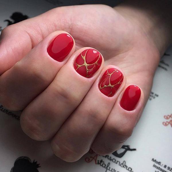 image4-109   Модный маникюр с дизайном на короткие ногти