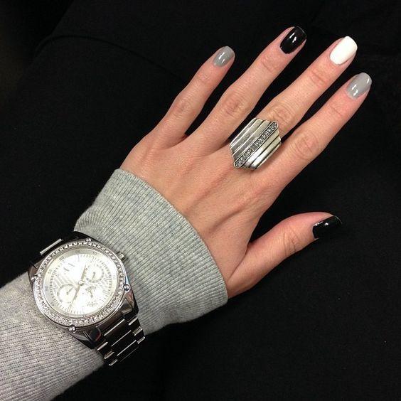 image5-77   50 оттенков серого в маникюре: стильные идеи модного элегантного маникюра!