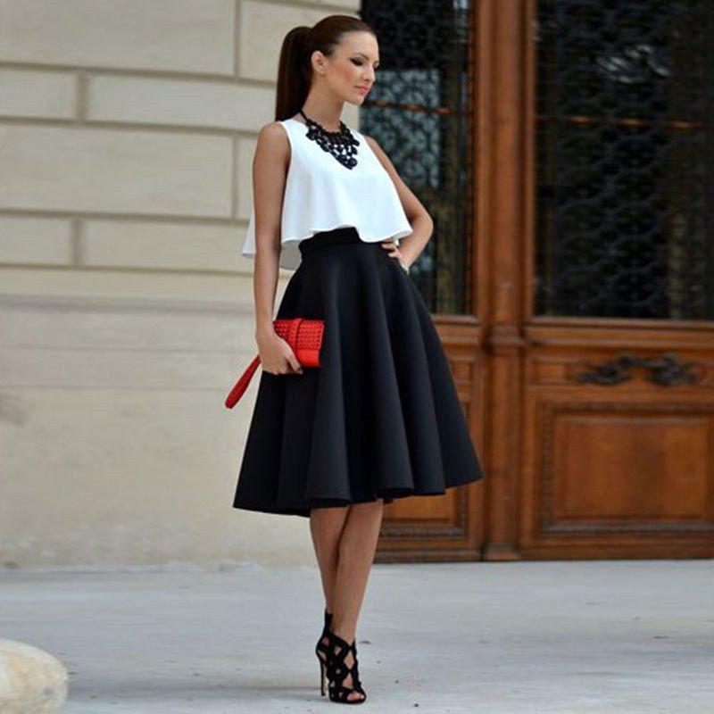 image6-62 | 10 стильных образов с черной юбкой