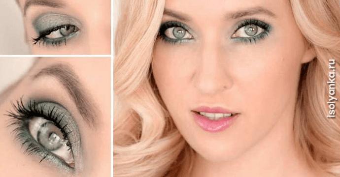 Секреты макияжа для зелено-голубых глаз