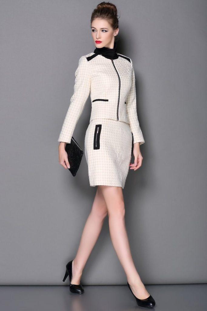 image17-25 | Утонченная элегантность — костюмы из юбки и жакета