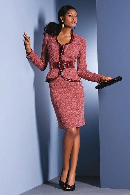 image19-23 | Утонченная элегантность — костюмы из юбки и жакета
