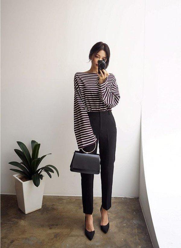 image24-28   8 стильных образов с черными брюками: модные тенденции весны 2018