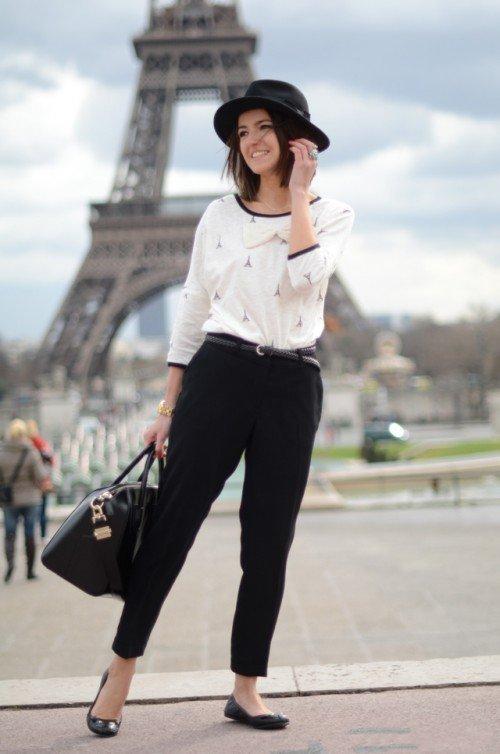 image25-24   8 стильных образов с черными брюками: модные тенденции весны 2018