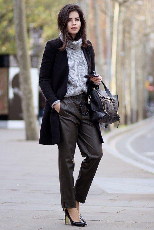 image33-9   8 стильных образов с черными брюками: модные тенденции весны 2018