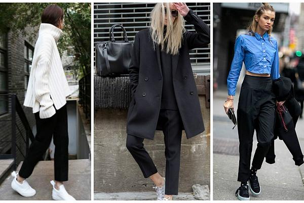 image36-7   8 стильных образов с черными брюками: модные тенденции весны 2018