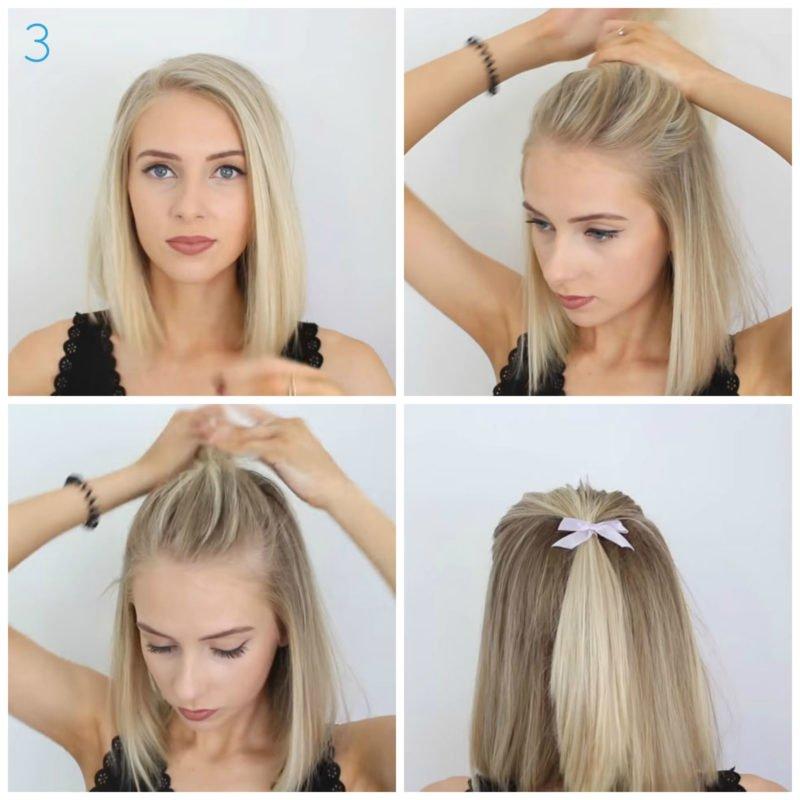 image4-28 | 10 лёгких причёсок для коротких и средних волос на каждый день