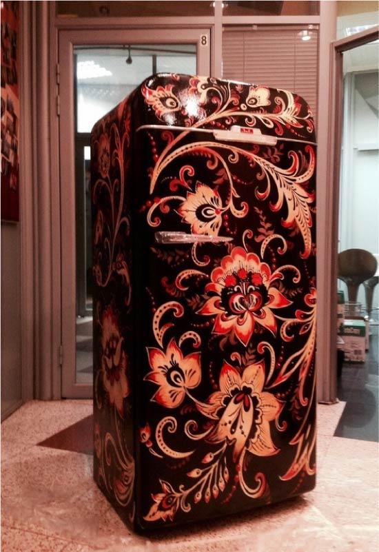 image9-21 | Новый дизайн старого холодильника: 7 способов создать стильный интерьер