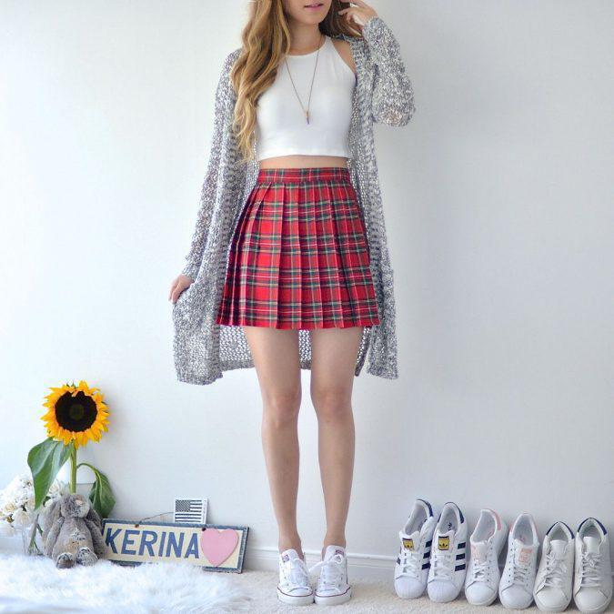 bra-top-and-skirt-and-cardigan-675x675 | 10 прекрасных идей нарядов весны и лета 2018
