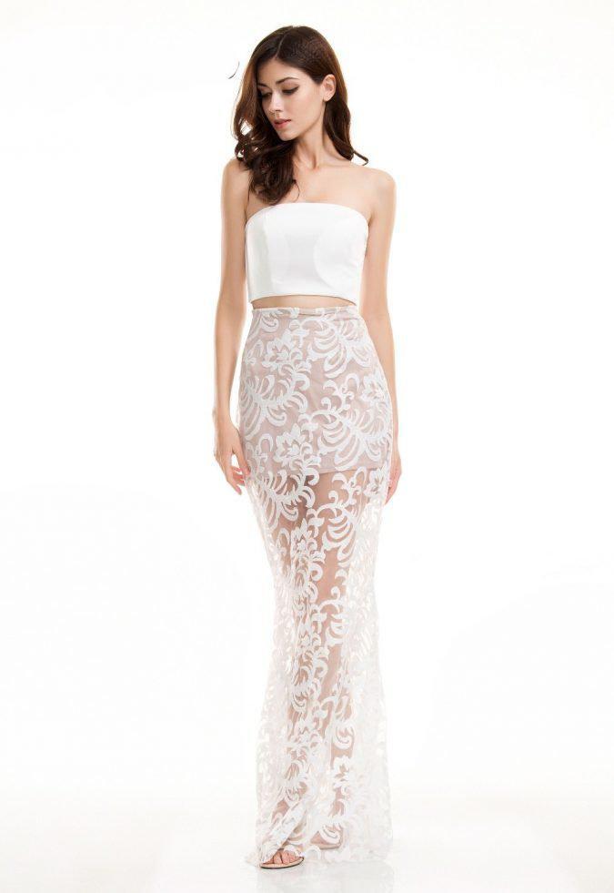 full-lace-maxi-strapless-dress-675x981 | 10 прекрасных идей нарядов весны и лета 2018