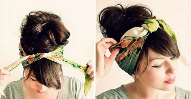 image11-6   Как красиво и оригинально повязать шарф или палантин на голову