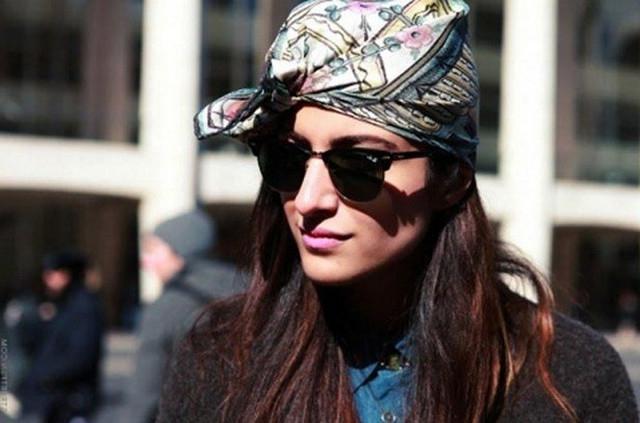 image21-4   Как красиво и оригинально повязать шарф или палантин на голову