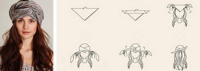 image25-3   Как красиво и оригинально повязать шарф или палантин на голову
