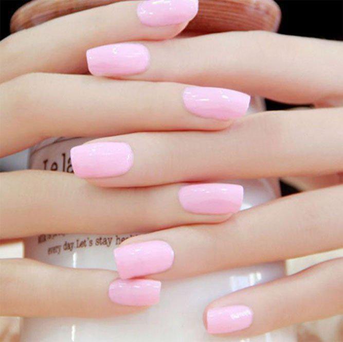 image26-12   36 вариантов стильного маникюра в модном розовом цвете «Дитя заката»