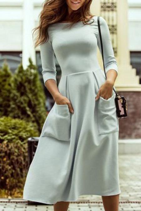 image3-37 | 9 стильных и модных платьев-миди 2018