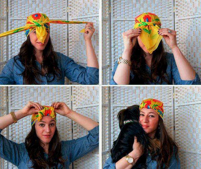 image39-1   Как красиво и оригинально повязать шарф или палантин на голову